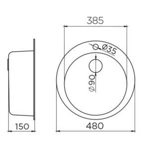 Venera480E Ø90 tehnički crtež