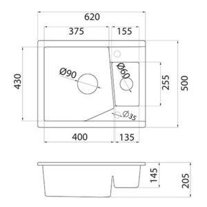xLinea M 1.5 tehnički crtež
