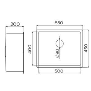 Artinox 500 tehnički crtež