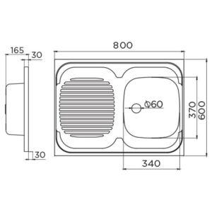 Standard D tehnički crtež