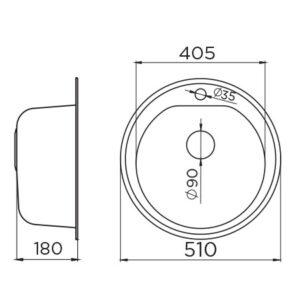 Venera 510E tehnički crtež