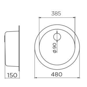 Venera 480C Ø90 tehnički crtež
