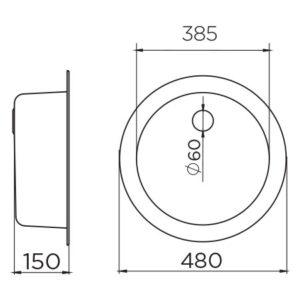 Venera 480C Ø60 tehnički crtež