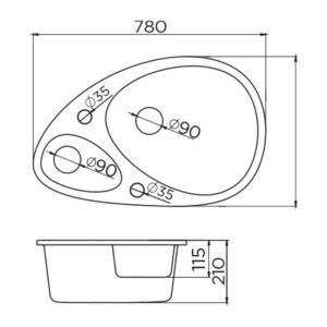 xElipse tehnički crtež
